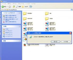 中にあるファイルはすべて削除してください。